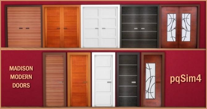 Sims 4 Madison Modern Doors at pqSims4