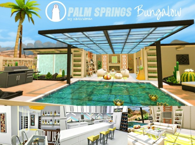 Palm Springs Bungalow by Waterwoman at Akisima image 1596 670x498 Sims 4 Updates