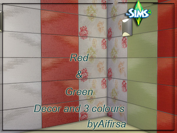 Red&Green tiles by Aifirsa at Lady Venera image 1597 Sims 4 Updates