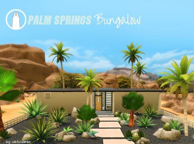 Palm Springs Bungalow by Waterwoman at Akisima image 1606 670x498 Sims 4 Updates