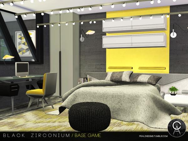 Sims 4 Black Zirconium house by Pralinesims at TSR