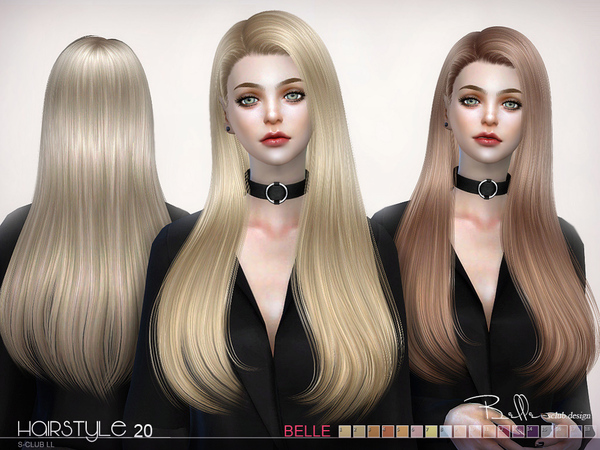 Sims 4 Hair Belle n20 by S Club at TSR