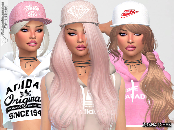 Diamond Urban Cap Collection by Pinkzombiecupcakes at TSR image 1628 Sims 4 Updates