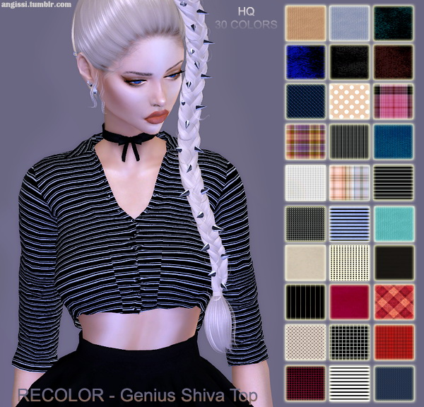 Genius Shiva top recolors at Angissi image 1649 Sims 4 Updates
