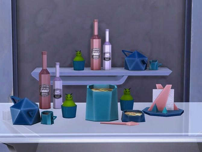Sims 4 Facet Geometric Kitchen set at Soloriya