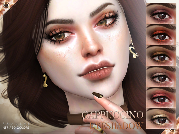 Sims 4 Cappuccino Eyeshadow N57 by Pralinesims at TSR