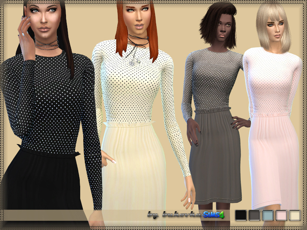 Dress with a Frill by bukovka at TSR image 1714 Sims 4 Updates