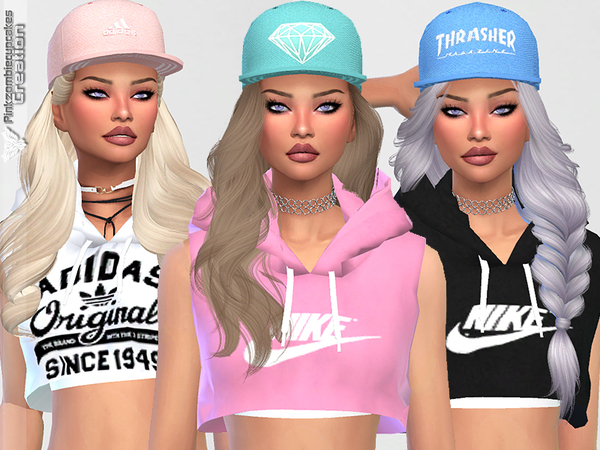 Diamond Urban Cap Collection by Pinkzombiecupcakes at TSR image 1728 Sims 4 Updates