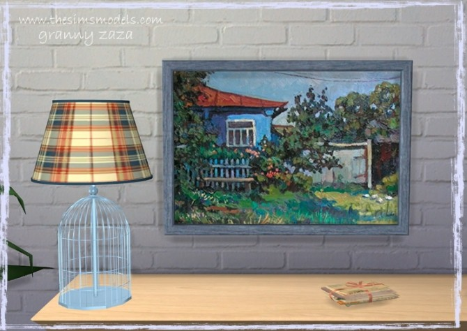 Lighting and painting by Granny Zaza at The Sims Models image 1744 670x474 Sims 4 Updates