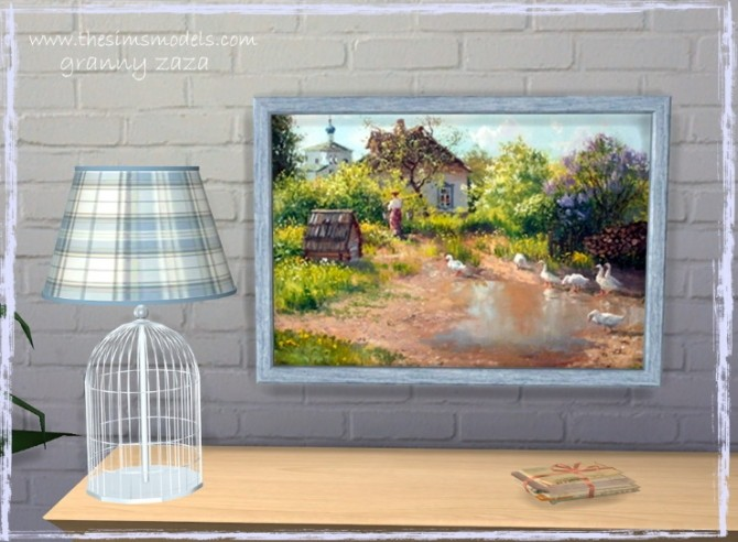 Lighting and painting by Granny Zaza at The Sims Models image 1754 670x492 Sims 4 Updates