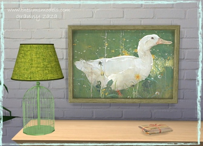 Lighting and painting by Granny Zaza at The Sims Models image 1764 670x483 Sims 4 Updates