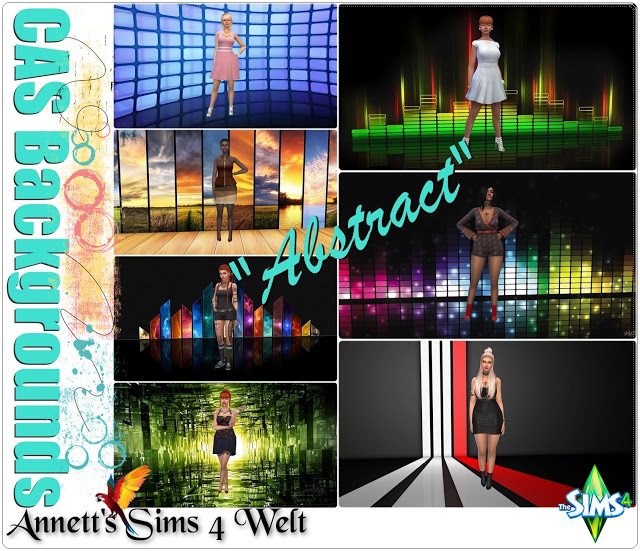 Sims 4 CAS Backgrounds Abstract at Annett's Sims 4 Welt