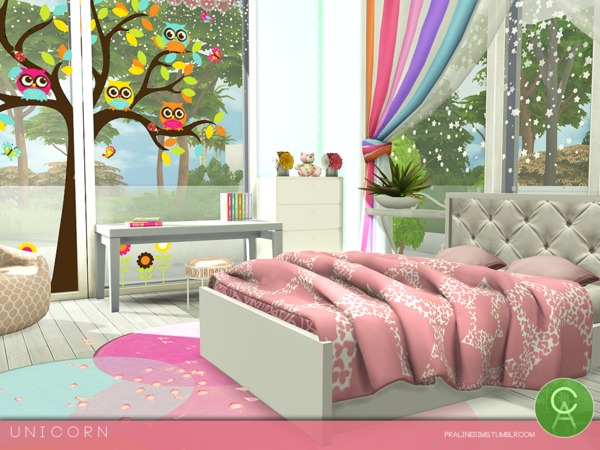 Sims 4 Unicorn house by Pralinesims at TSR