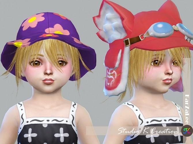 Sims 4 Animate hair 80 Yuji for toddler at Studio K Creation