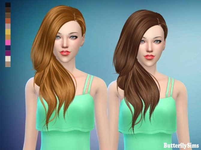 Sims 4 B fly hair af 188 No hat (free) by YOYO at Butterfly Sims