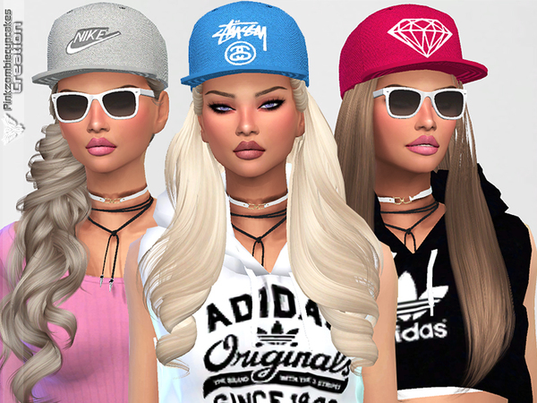 Diamond Urban Cap Collection by Pinkzombiecupcakes at TSR image 1828 Sims 4 Updates