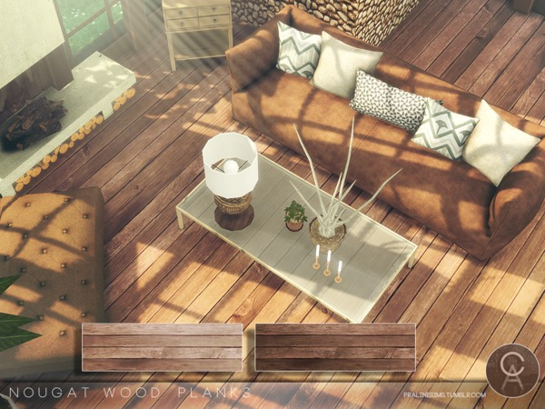 Sims 4 Nougat Wood Planks by Pralinesims at TSR