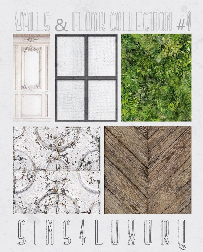 Sims 4 Walls & Floors Collection #1 at Sims4 Luxury
