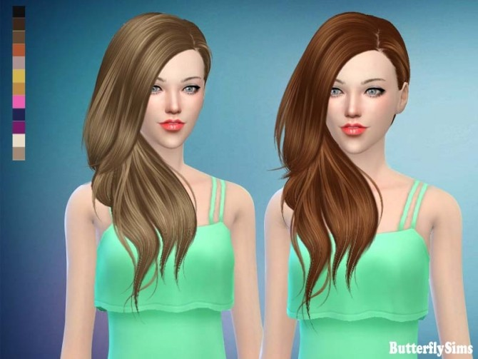B fly hair af 188 No hat (free) by YOYO at Butterfly Sims image 1834 670x503 Sims 4 Updates
