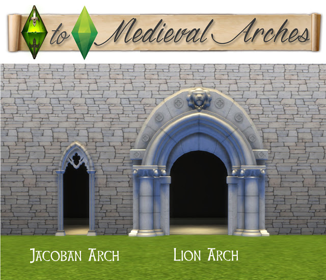 TSM to TS4 Medieval Arches at Historical Sims Life image 1841 Sims 4 Updates