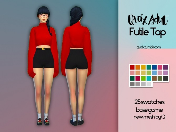 Sims 4 Futile Top at qvoix – escaping reality