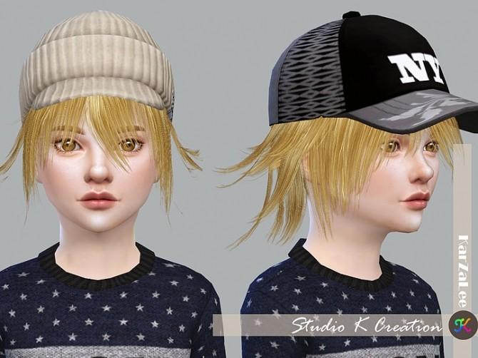Sims 4 Animate hair 80 Yuji for child at Studio K Creation