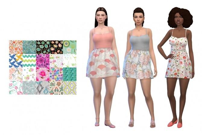 Sims 4 Pixelunivairses Casual Summer dress recolors at Deeliteful Simmer