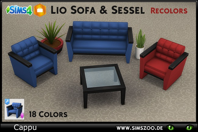 Set Lio by Cappu at Blacky's Sims Zoo image 1854 Sims 4 Updates