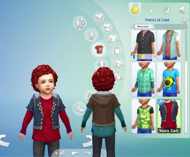 Sims 4 Hoodie Crop Conversion at My Stuff