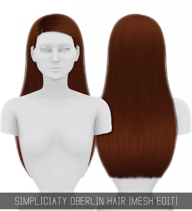 Sims 4 OBERLIN HAIR MESH EDIT at Simpliciaty