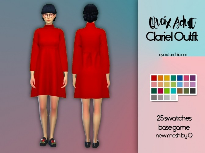 Sims 4 Clariel Outfit at qvoix – escaping reality