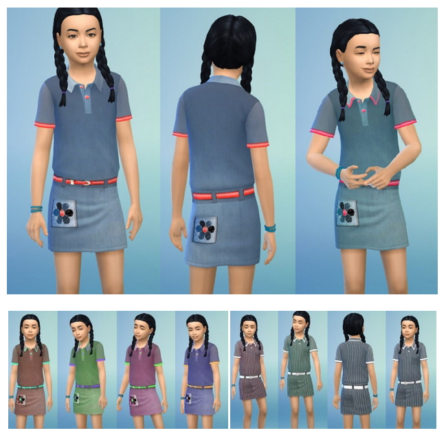 Kid's Denim Dress at Birksches Sims Blog image 189 Sims 4 Updates