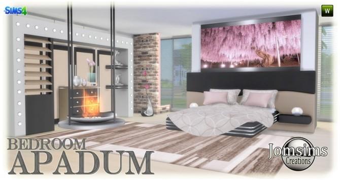 Sims 4 Apadum bedroom at Jomsims Creations