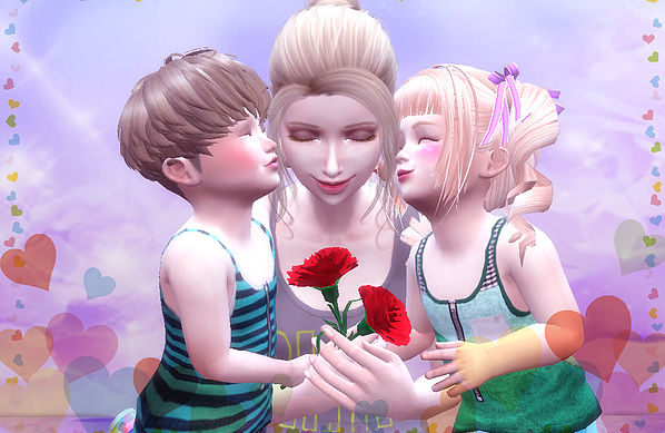 Mothers Day poses at A luckyday image 1903 Sims 4 Updates