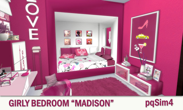 Madison Girly Bedroom At Pqsims4 Sims 4 Updates