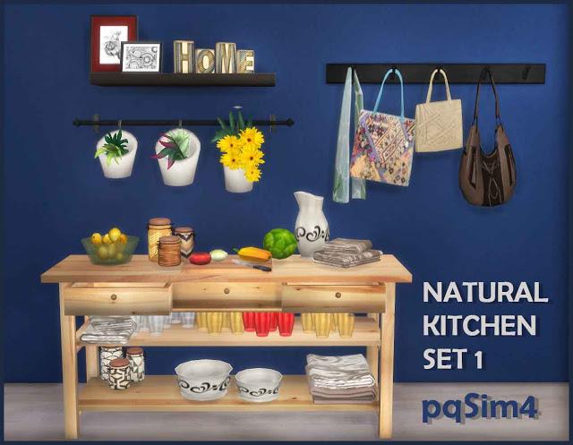 Natural kitchen set 1 at pqsims4 sims 4 updates for Kitchen set natural