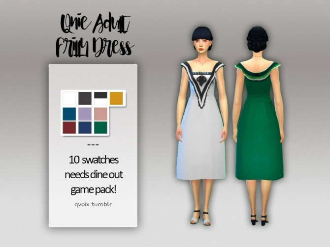 Sims 4 Frilly Dress at qvoix – escaping reality
