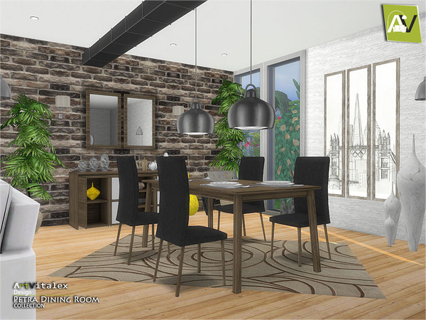 Petra Dining Room by ArtVitalex at TSR image 1916 Sims 4 Updates