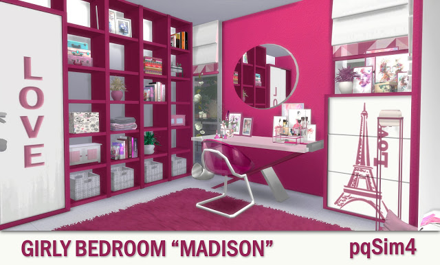 Madison Girly Bedroom at pqSims4 image 192 Sims 4 Updates