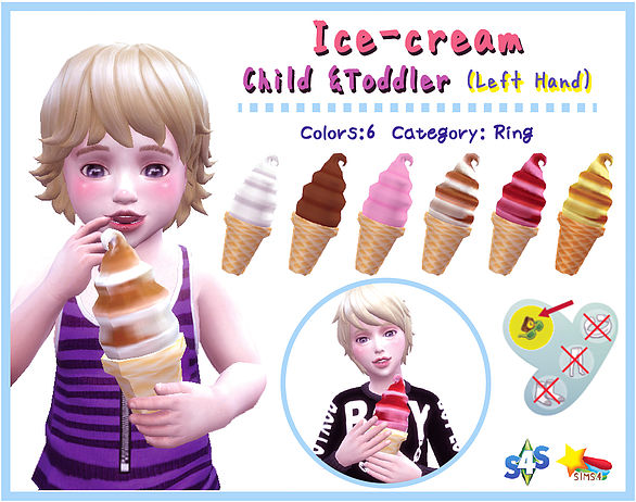 Soft ice cream(Child & Toddler) at A luckyday image 1921 Sims 4 Updates