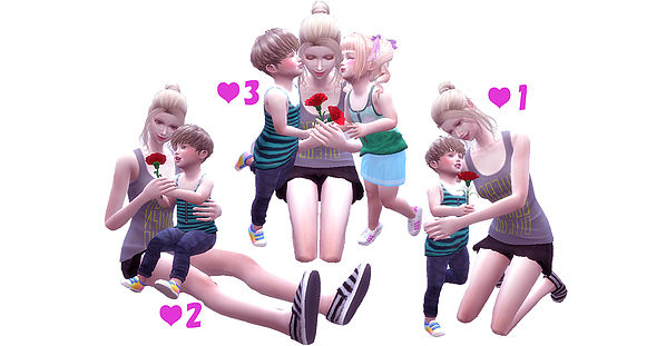 Mothers Day poses at A luckyday image 1923 Sims 4 Updates