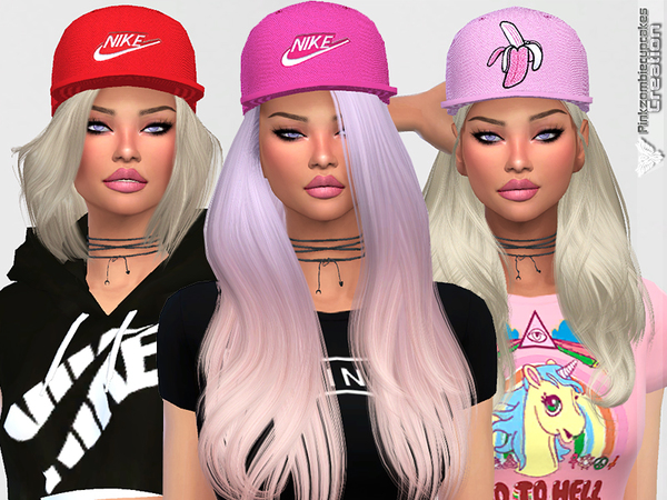 Diamond Urban Cap Collection by Pinkzombiecupcakes at TSR image 1927 Sims 4 Updates