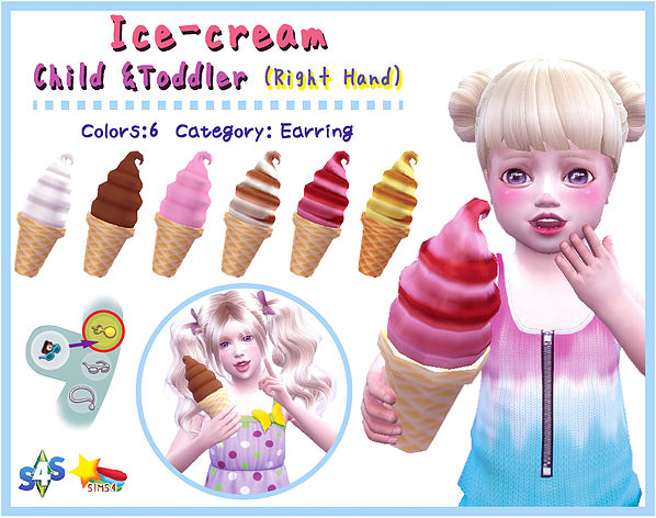 Soft ice cream(Child & Toddler) at A luckyday image 1931 Sims 4 Updates