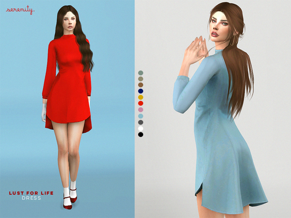 Lust For Life Dress By Serenity Cc At Tsr 187 Sims 4 Updates