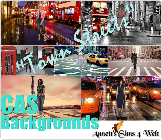 Town Streets CAS Backgrounds at Annett's Sims 4 Welt image 1964 Sims 4 Updates
