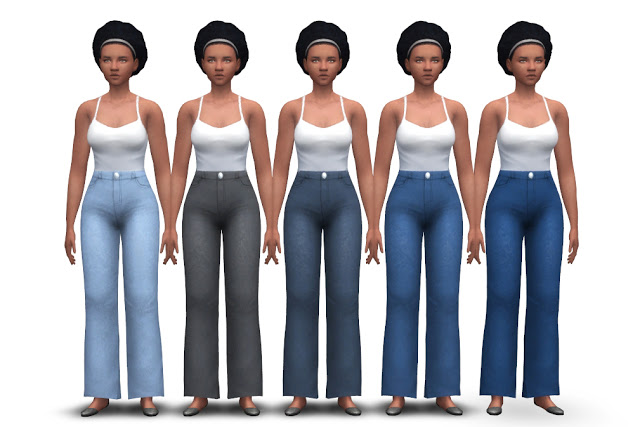 Chunky Jeans (high waist + flared) at Historical Sims Life image 1965 Sims 4 Updates