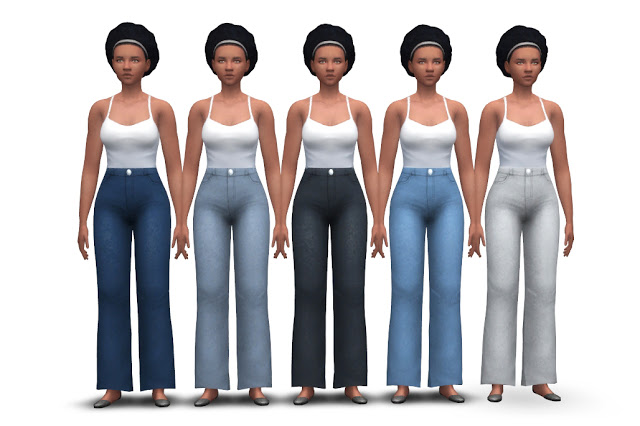 Chunky Jeans (high waist + flared) at Historical Sims Life image 1974 Sims 4 Updates