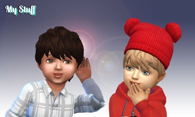 Sims 4 Messy Hair for Toddlers at My Stuff
