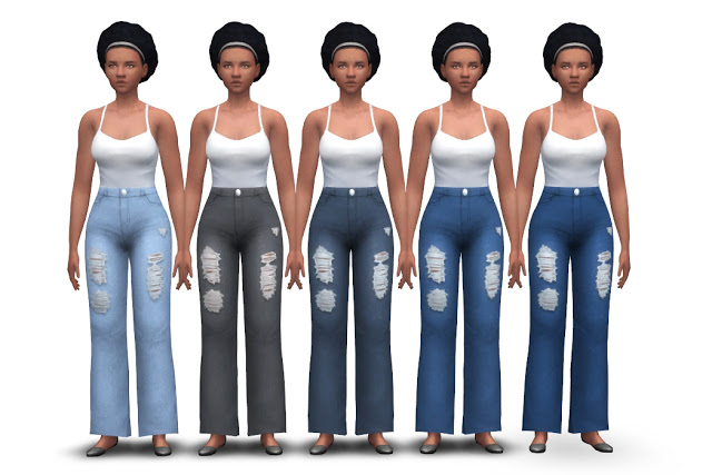 Chunky Jeans (high waist + flared) at Historical Sims Life image 1985 Sims 4 Updates