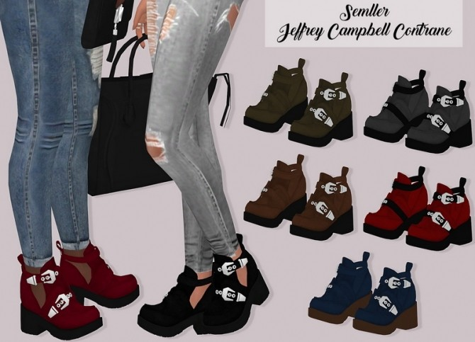 Sims 4 Semllers boots conversion at Lumy Sims